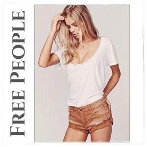Free People Irreplaceable Burnt Orange Shorts